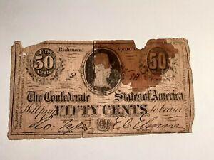 1864 Confederate 50 cent T-72