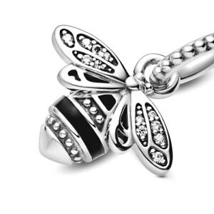 PANDORA Charm Sterling Silver ALE S925 SPARKLING QUEEN BEE PENDANT 398840C01