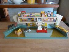 épicerie ancienne en bois balance Geobra jouet ancien pour poupée