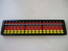 JAPANESE SOROBAN  calculation ABACUS YELLOW RED 17 columns