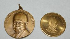 2 Vintage Eisenhower tokens Bronze dinner w/ Ike token