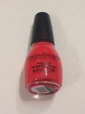 NEW SINFUL COLORS NAIL POLISH CORAL RIFF BRIGHT ORANGE W BLUE SHIMMER LIMITED