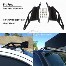 52Inch Curved LED Light Bar Windshield Mounting Brackets Fit for 04-14 Ford F150