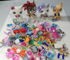 Littlest Pet Shop LPS 4 Accessories Custom Lot: Necklace Bow Cell Phone Earrings