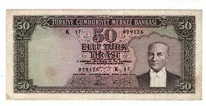 Turquie TURKEY Billet 50 LIRA 1930  ( 1715 )  ATATURK BON ETAT