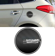 Fuel Tank Door Cap Cover Carbon Black Decal Sticker for KIA 13 - 17 Carens Rondo