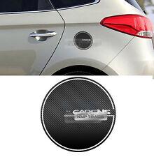 Fuel Tank Door Cap Cover Carbon Black Decal Sticker for KIA 13 - 17 Carens Rondo