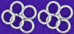 10 STRONG HEAVY STERLING SILVER OPEN JUMP RINGS, 5.5 MM, 1 MM WIRE, TOP QUALITY