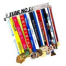 Medal Display + Fear No Distance + Medal Display Rack 30+ Medals Marathon, Ru.
