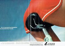 PUBLICITE ADVERTISING 027  1980   Peugeot cycles ( 2pages)  vélo