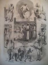 INDE DOMESTIQUES ALBANIE SCUTARI DERVICHES MUSIQUE GRENADIERS GRAVURES 1858