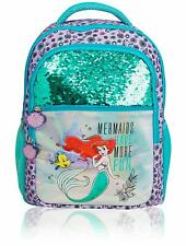 Disney Princess Girls Sequins Holographic Backpack Little Mermaid Ariel Bag