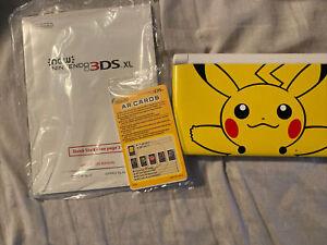 U1697 Nintendo 3DS LL XL console Pikachu Yellow Pokemon Japan w/stylus pen