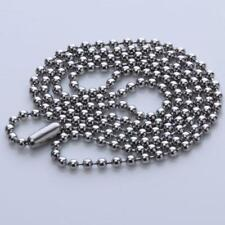 "19"" Long Bead Connector Clasp 2mm Diameter Ball Chains Keychain Tag Key Ring"