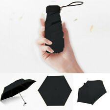 Flat Lightweight Umbrella Parasol Folding Sun Umbrella Anti UV Mini Umbrella