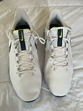 New listing Nike React Infinity Pro Golf Shoes Waterproof White Blue Mens Size 12 Wide