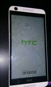 HTC 32GB - Amber Gold (AT&T) Smartphone Glass screen Cracked.