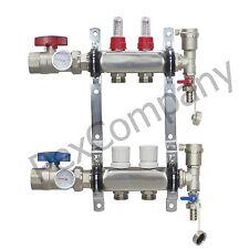 2- Loop/Port Stainless Steel PEX Manifold Radiant Heating