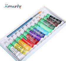 12colors/set Oil paints colors drawing pigments supplies art set painting brush
