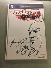 HARLEY QUINN #0 VARIANT Signed Amanda Conner Jimmy Palmiotti Sketch DC NEW 52