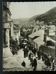 Cornwall PORT ISAAC Hauling Lifeboat up FORE STREET c1964 RP Postcard by Frith