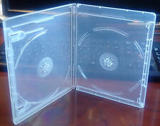 New 6 Pk CLEAR 12.5 mm VIVA ELITE Blu-Ray Case Double 2 Discs Storage Holder