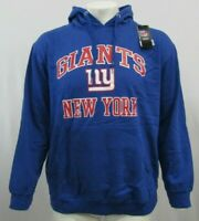 New York Giants NFL Mens Majestic Blue Pullover Hoodie XL 2XL