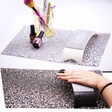 Diamante Nail Art Table Mat Salon Practice Cushion Washable Pad Hand Rest Tool