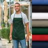Medium-Length Pocketed Apron Work Wear Length Adjust Food Service Pocket A525