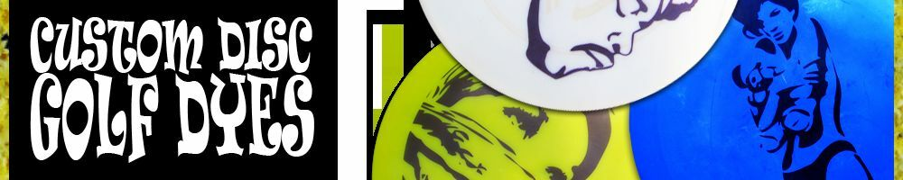 Custom Disc Golf Dyes and Stencils