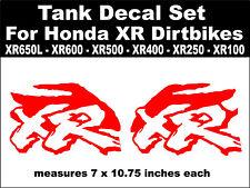 Tank decals for Honda XR650L XR600 XR500 XR400 XR250 XR100 dirtbikes  rd & wh