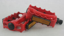 NEW CRIMSON RED BIKE PEDALS BMX TRACK FIXIE MTB Bicycle 9/16""