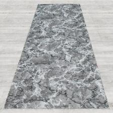 Tappeto passatoia fantasia effetto marmo nero antiscivolo lavabile varie misure