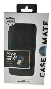 CaseMate Wallet Folio Case for iPhone 12 Pro Max Black