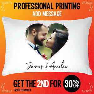 Personalised Pillowcase Photo Cushion Cover Print Image Mother's day gift