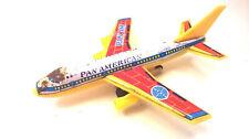 Vintage SAITO Pan American Jumbo Jet 747 Tin Plastic Toy Friction Pan Am Japan