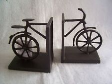 Black Metal Bicycle Bookends A Pair of Bookends by Gisela Graham