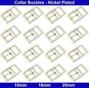 Double Bar Collar Buckles - 10mm, 16mm, 20mm - Zinc die casting - Nickel Plated
