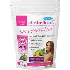 Herbal Liver & Gallbladder Cleanse Elle Belle UK - Love Your Liver - 30 Vegicaps