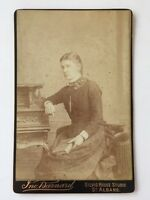 Large Victorian Cabinet Card Photo (CDV) Lady: Barnard: St Albans