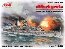 ICM Models 1/700 WWI German Battleship Markgraf (full hull & waterline)