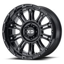 20x12 BLACK wheels rims XD829 HOSS 2 2007-2018 LIFTED JEEP WRANGLERS 5X5 -44mm