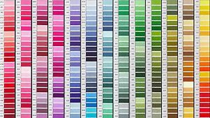 5-30 x 18 inch lengths DMC stranded cross stitch embroidery cotton, 384 colours