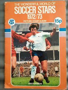 F K S Soccer stars 1972/73  picture stamp album 2 missing