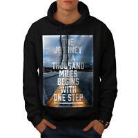 Wellcoda Motivation Quote Fashion Mens Hoodie, Life Casual Hooded Sweatshirt