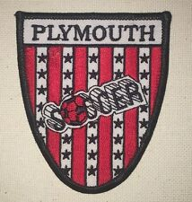 Plymouth Soccer Patch - Red White Black
