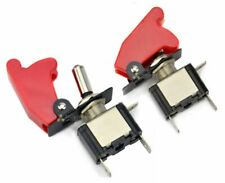 2 Pack Toggle Switch On Off Rocker Red LED 12 V Car Truck Boat Airplane Switches