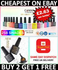 Nail Gel Polish Set CANNI Soak Off UV LED Colour Base Top Coat Nail Varnish