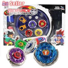 4D Beyblade Stadium Metal Master Rapidity Fusion Fight Rare Launcher Grip Set