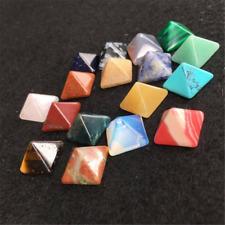 7PCS Chakra Pyramid Stone Set Crystal Healing Wicca Natural Spirituality Charm